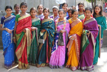 group of women in sarees